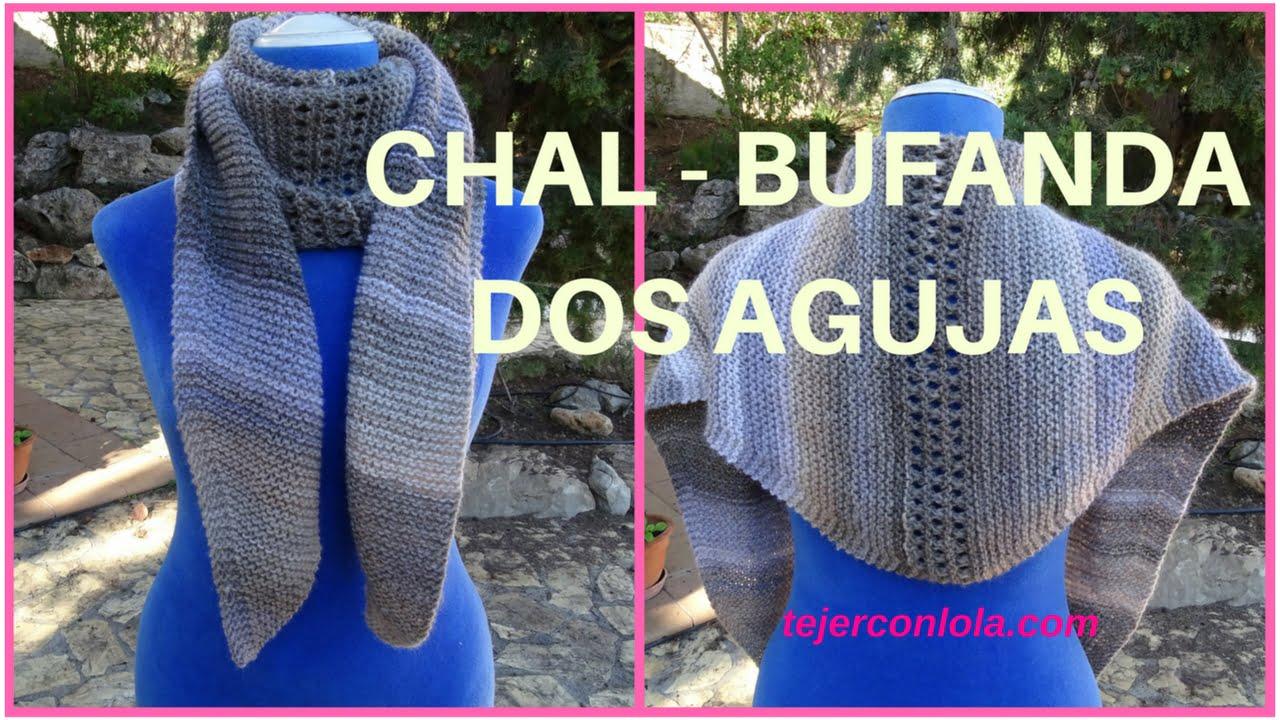 cuellos bufandas chales tejidos
