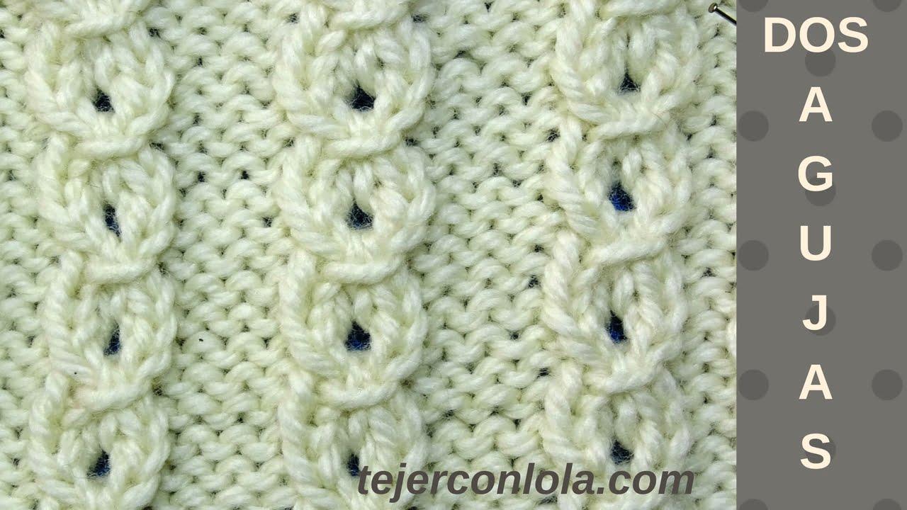 Este punto a dos agujas, es fácil y recurrente. Lo puedes tejer en diferentes tamaños y diseños y resulta bueno para prendas de adultos y también para niños. Es un punto elástico , que forma unas trencitas caladas.